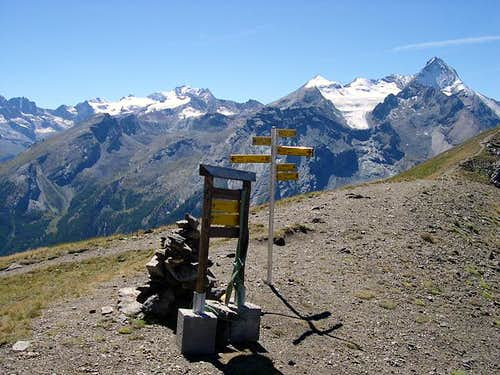 View from Col Tsa Sèche  of the central sector of Gran Paradiso