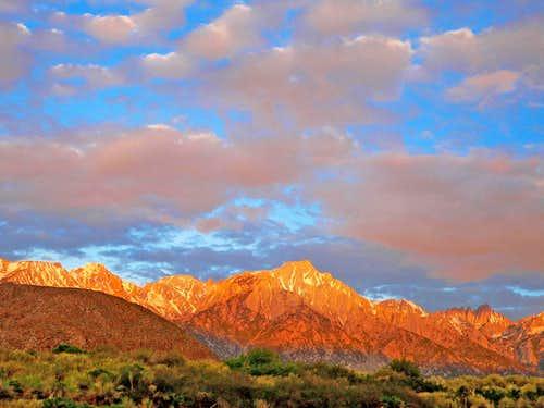 Sunrise on the Lone Pine High Sierra