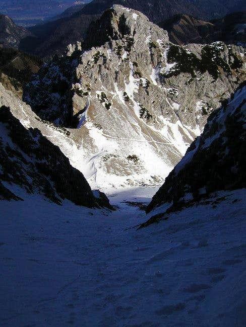 Palec seen from the NE ravine...