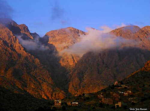 Sunset over Ameln Valley