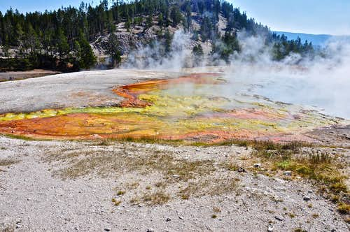 Bacteria-filled volcanic pool