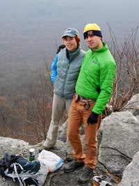 Andy and Jamie at the Pinnacle