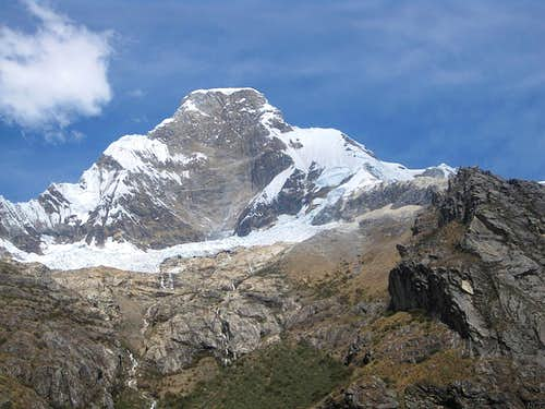 N face of Huascarán Norte