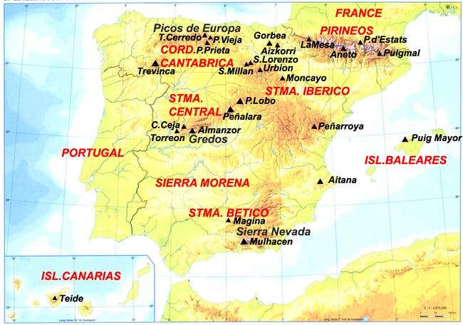 Spain\'s Highpoints