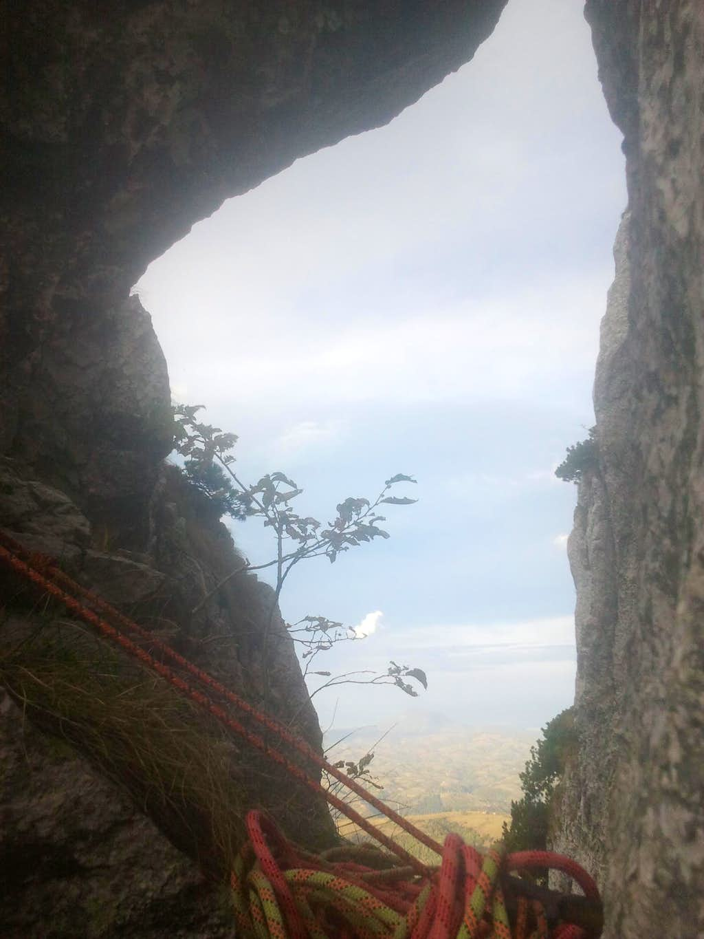 The Corner Crack window from the saddle, second pitch
