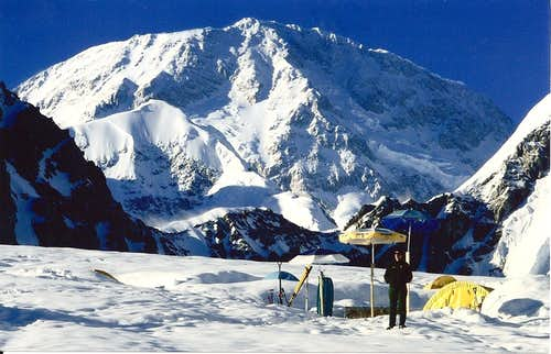 My dad at Denali base camp
