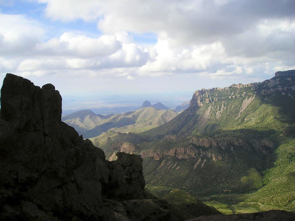 View from the high Chisos Mountains-Big Bend National Park, Texas