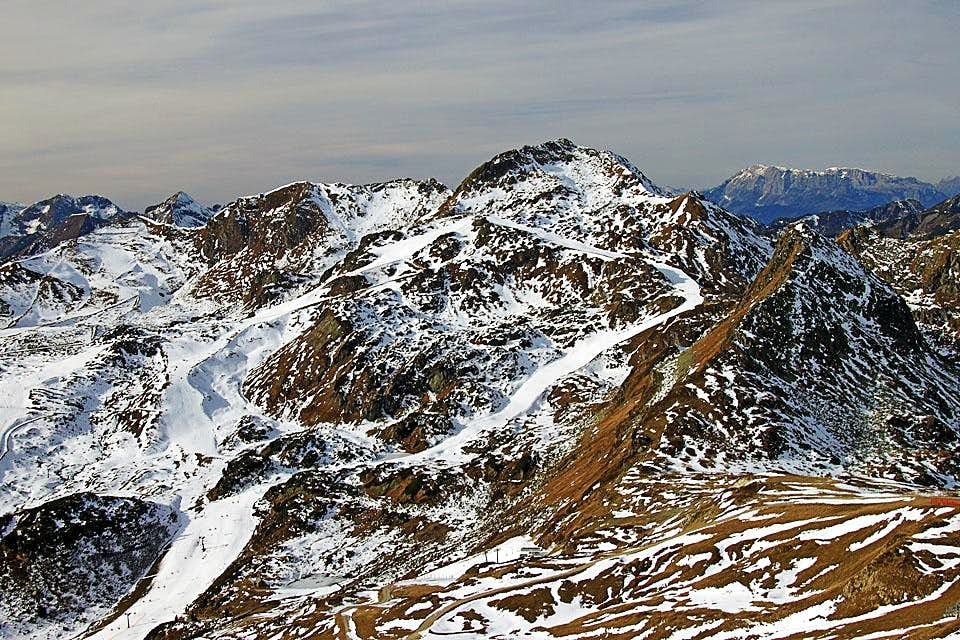 Seekarspitze from the east, from Hundskogel