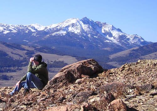 Myself on the summit of Bunsen Peak, located in Yellowstone National Park