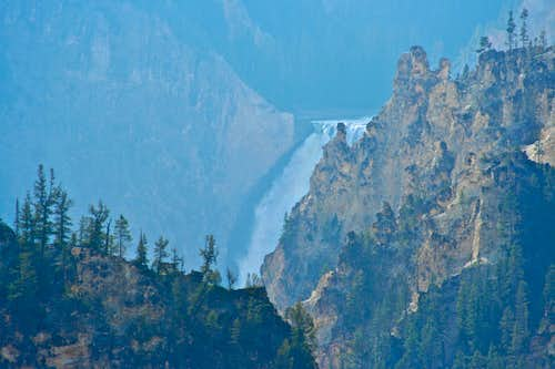 The lower falls of the Yellowstone River-Yellowstone National Park