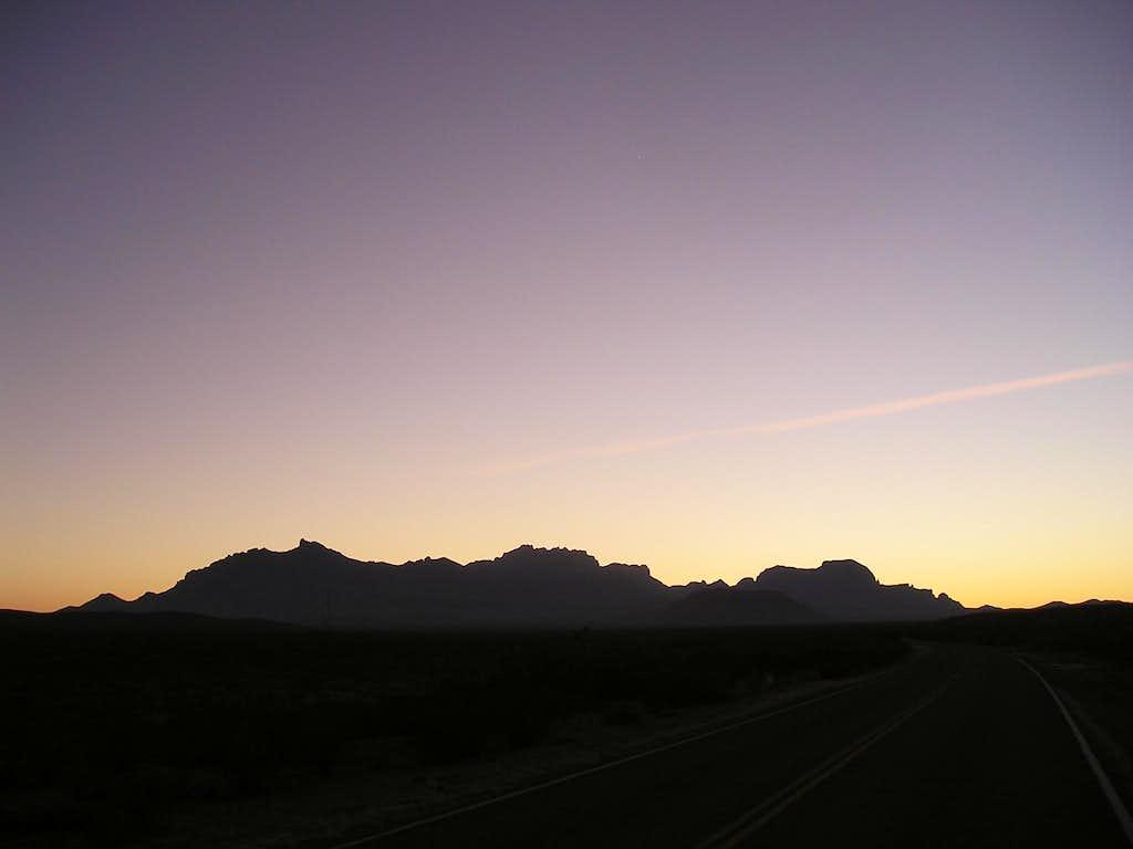 Chisos Mountains at dusk-Big Bend National Park, Texas