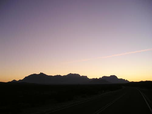 Chisos Mountains at dusk-Big Bend National Park, Texas