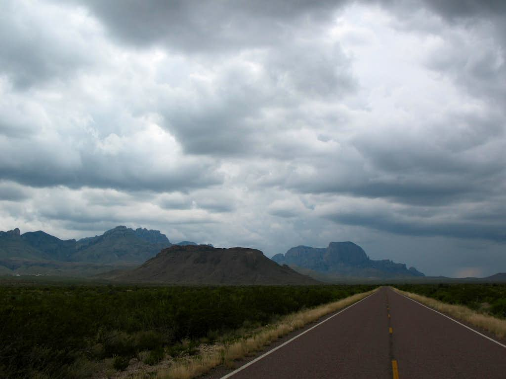 Stormy weather in the Chisos mountains-Big Bend National Park, Texas