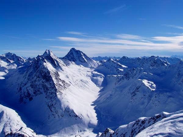 A winter view of Piz Linard's...