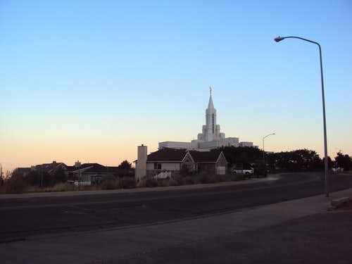 LDS Temple near trailhead