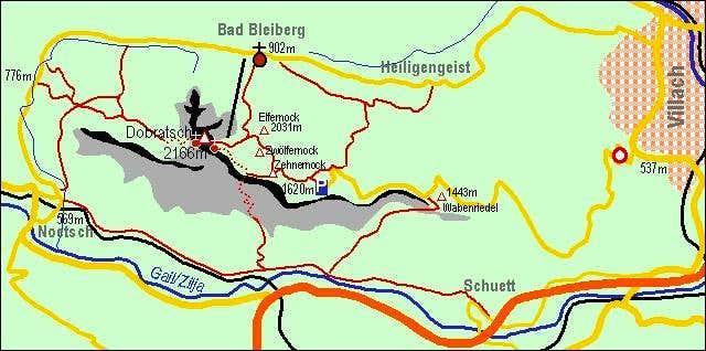 A self-made map of Dobratsch...
