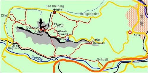 A self-made map of Dobratsch...