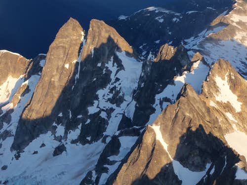 McMillan Spire from plane