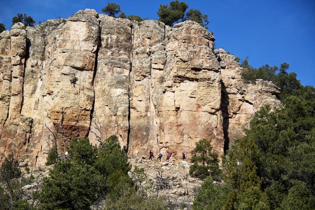 Nice limestone crags