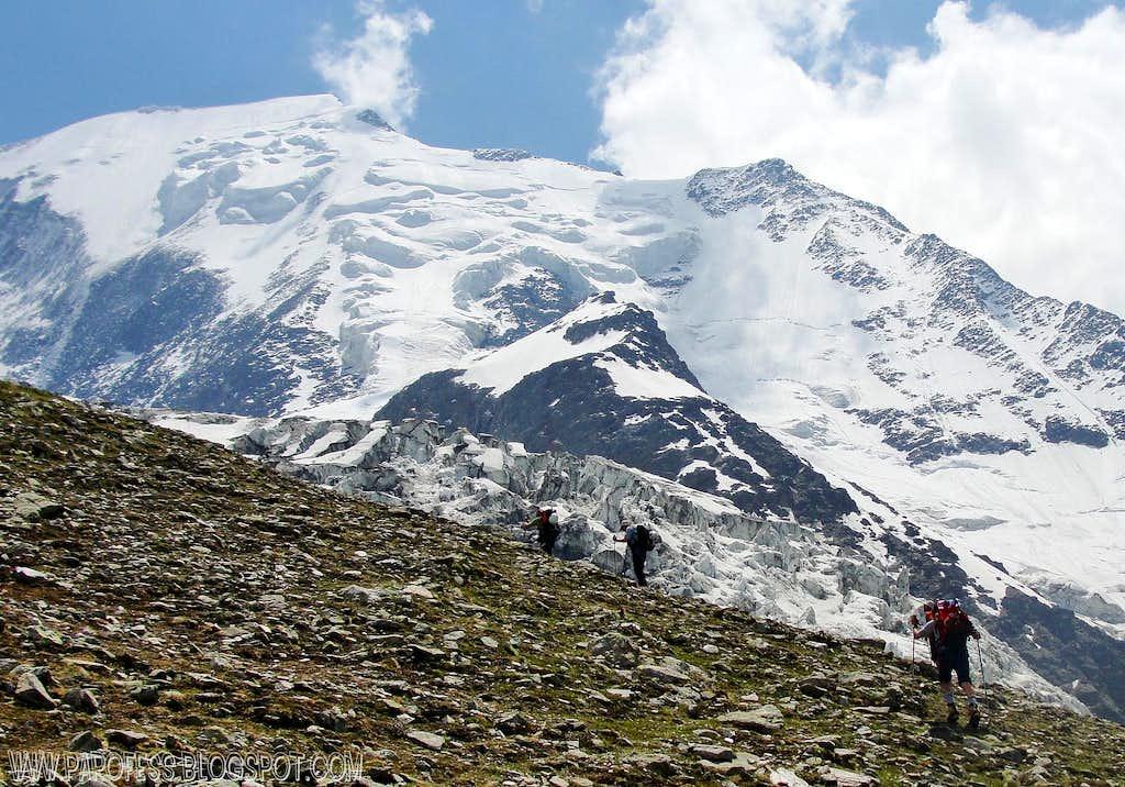 Bionnassay (Aiguille de) and its glacier