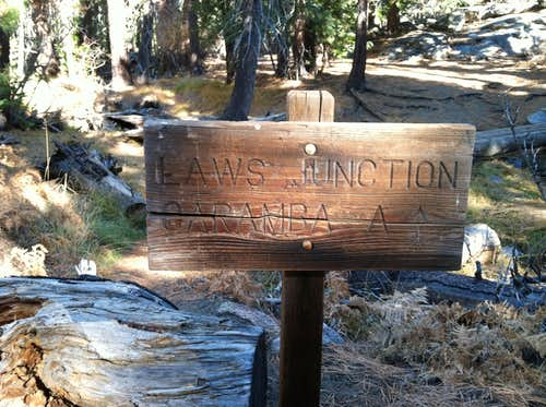 Laws Camp Trail Junction