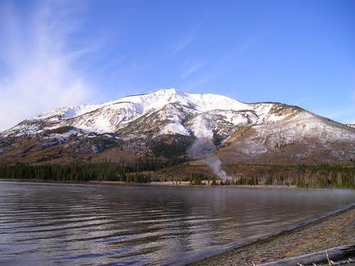 Mount Sheridan seen from Heart Lake-Yellowstone National Park