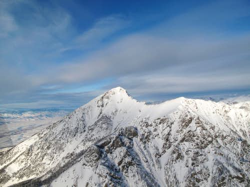Emigrant Peak in the winter-Absaroka Range, Montana