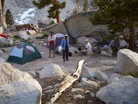 Our campsite at Lake 3 on...
