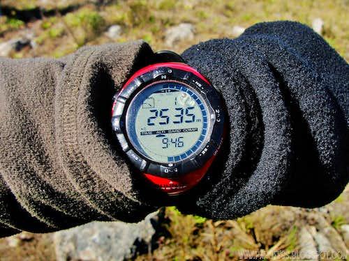 Altitude atop the mountain