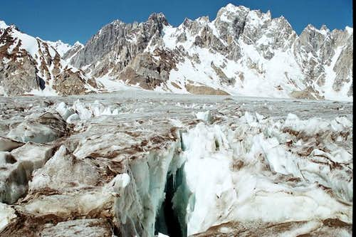 Crevasses On Biafo Glacier, Karakoram, Pakistan