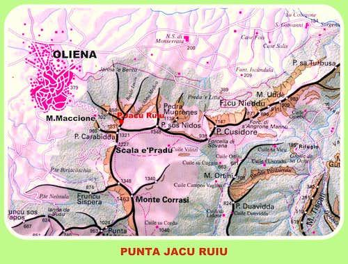 Punta Jacu Ruiu map