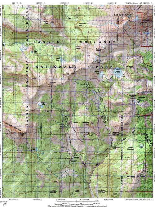 Diamond Peak Map