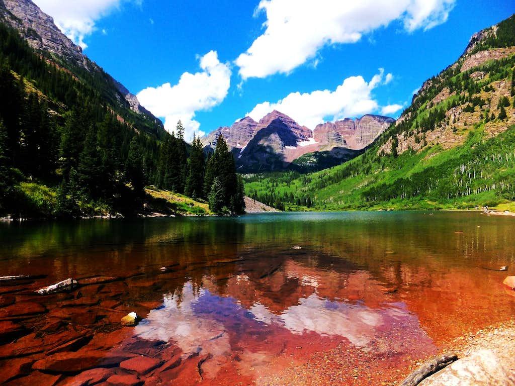 maroon bells lake at - photo #7