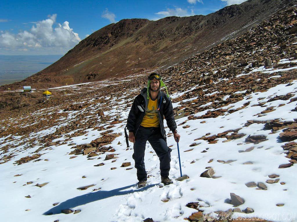 Hiking up Chacaltaya