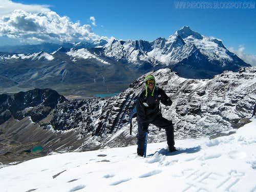 Deep snow on Chacaltaya