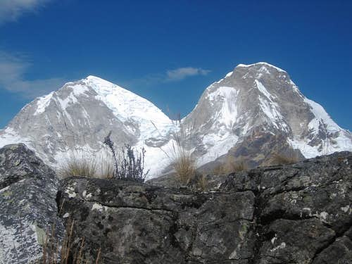 Huascarán Sur and Norte from the NE