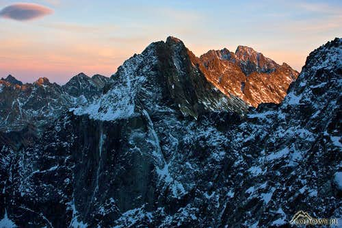 November evening on Tatra ridges