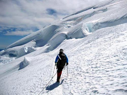 Emmons TR: Crevasses on the Winthrop