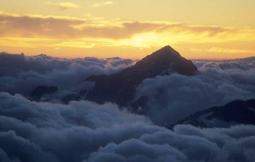 sunset behind Dent Blanche,...