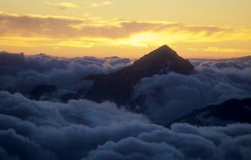 sunset behind Dent Blanche,...