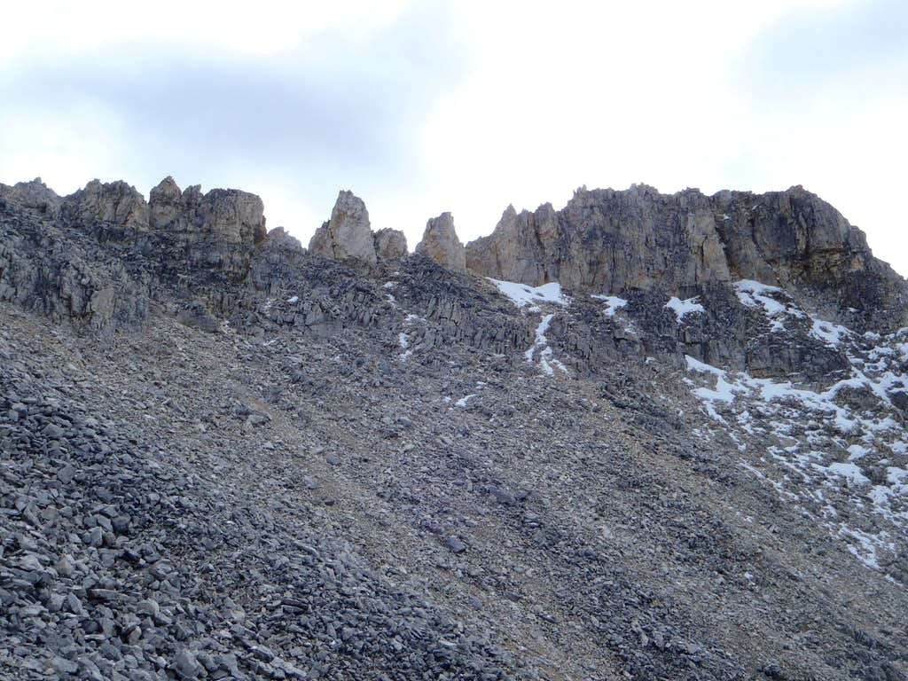 The summit ridge of Mt. Whyte