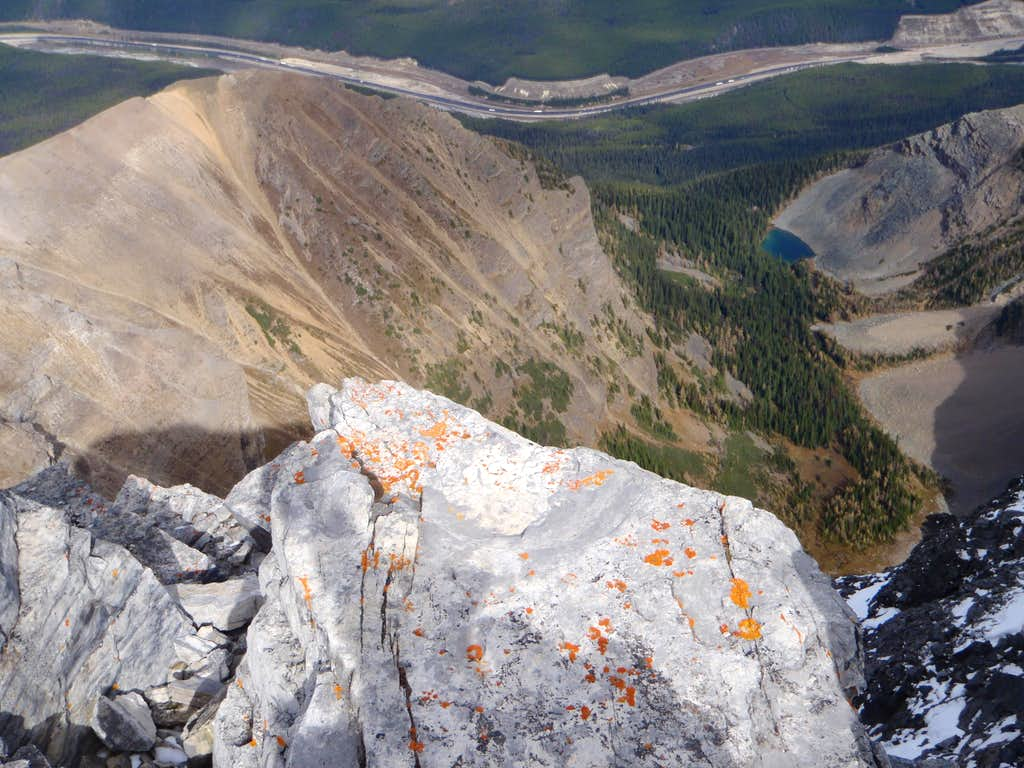View down the NE Face of Mt. Niblock