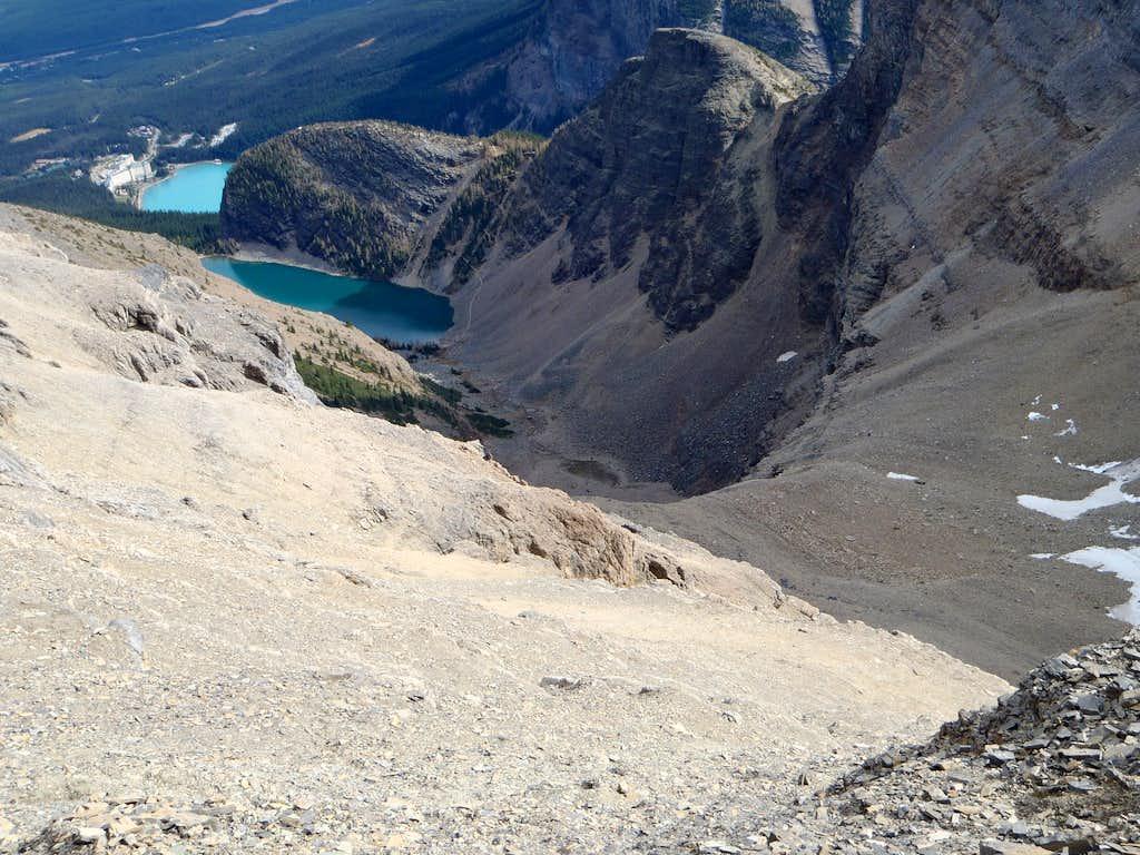 View down Mt. Niblock