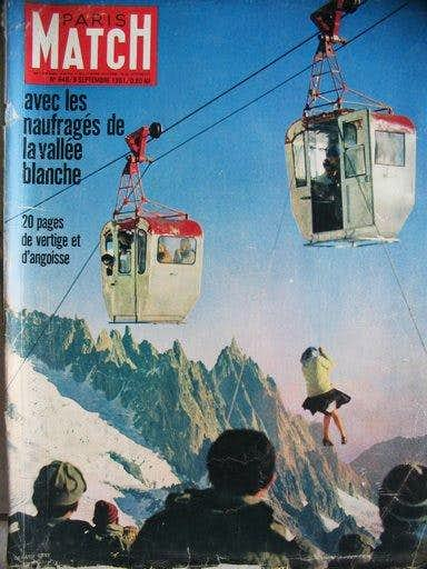 The cable car cabins - Paris-Match cover