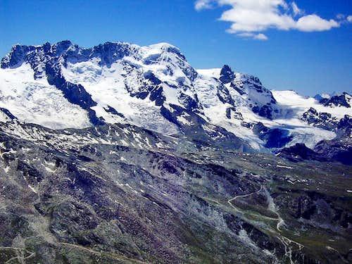 Impressive glaciers at Breithorn