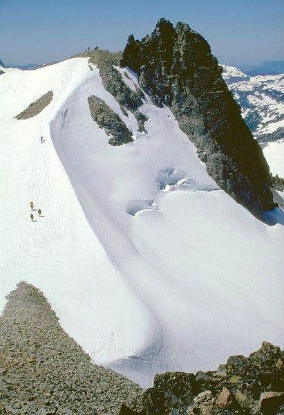 Looking at the summit of Mt....