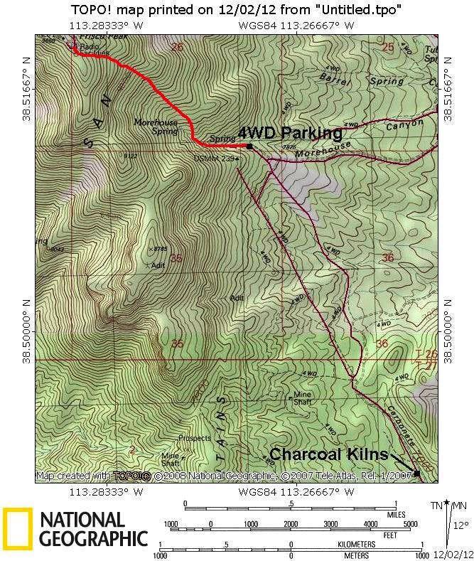 Frisco Peak Map-East Side