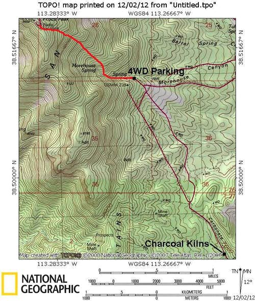 Frisco Peak Map-East Side