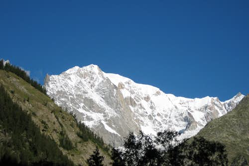 Mont Blanc from Val Veny