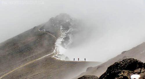 Spanish party on Guagua Pichincha crater rim